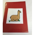 Alpaca Greeting Cards - Comical Camelid Cushing